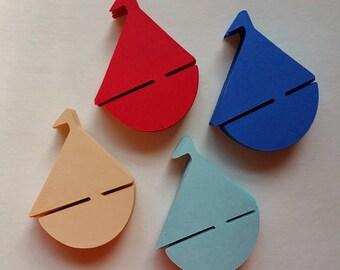 200 Sail boats - 1 inch - Confetti, Scrapbooks, Party
