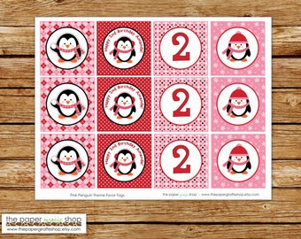 Penguin Cupcake Toppers | Penguin Birthday Party | Girls Birthday Party | Winter Party | Winter Wonderland | Penguin Party