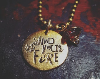 Find your fire necklace; inspirational