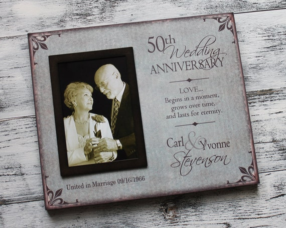 Personalised 50th Wedding Anniversary Gifts: 50th Wedding Anniversary Picture Frame By SignandGiftGallery