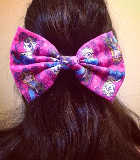 Pink Frozen Hair Bow
