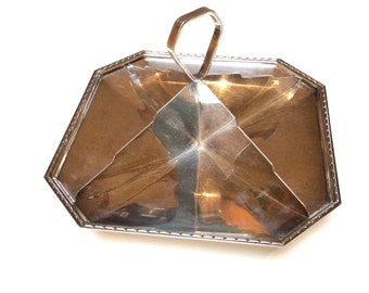 Vintage Art Deco Silverplate, Silverplated Divided Dish, Alex Clark & Co England, Very Unusual Piece, 1930s