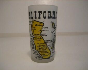 Vintage California Souvenir Glass
