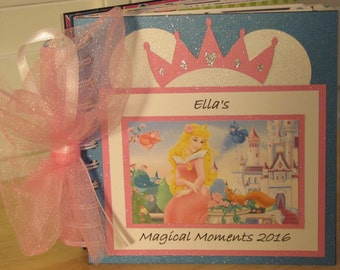 Disney Autograph Book with Princess AURORA from SLEEPING BEAUTY