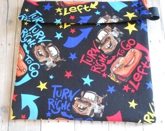 Black Disney Cars  Mater Lightening McQueen Reusable Sandwich bag