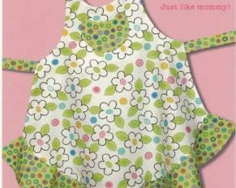 Sassy Little Sisters #155-SLS Child's Apron in Three Sizes by Cabbage Rose