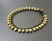 Jingling Brass Bead Bell  Anklet
