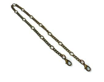 2x 35cm (13,78 in) chain antique brass