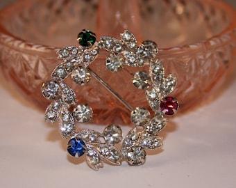 Eisenbert Rhinestone Brooch - circle pin