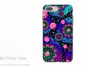 Colorful Modern Paisley - Artistic iPhone 7 PLUS - 8 PLUS Tough Case - Dual Layer Protection - Frilly Floratopia