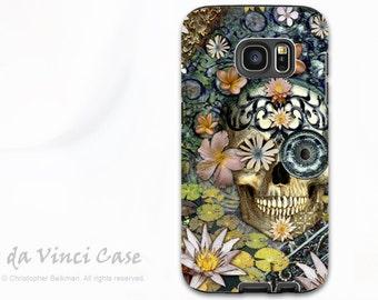 Botanical Skull Galaxy S7 Case - Premium Dual Layer Galaxy S 7 Case with Sugar Skull Art - Bali Botaniskull - Floral Samsung Galaxy S7 Case