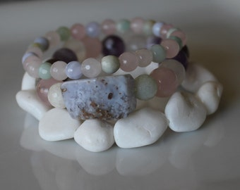 ANXIETY RELIEF BRACELET Stack / Stress Relief / Dispel negative energy / Serenity Peace Balance