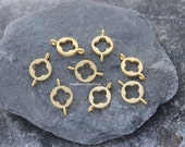 10   clover connectors 16mm links cutout flower charms  18k matte gold plated  jewelry findings mdla102