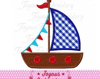 Instant Download Sailboat Applique Machine Embroidery Design NO:2104