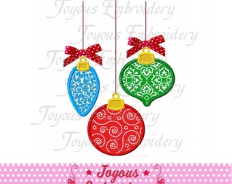 Instant Download Christmas Ornaments Embroidery Applique Design NO:1886