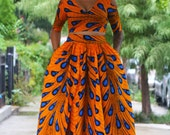 EGYPT - Morning Dew - Maxi Skirt with Crop Top Set - SM - XXL