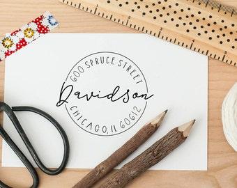 Calligraphy Return Address Stamp, Customized Address Stamp, Personalized Stamp, Handwritten Return Address Stamp