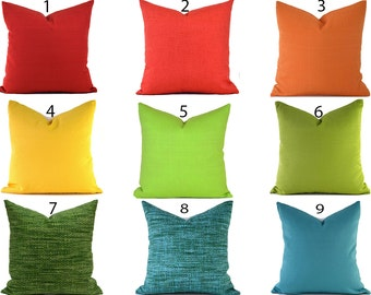 Outdoor Pillows Outdoor Pillow Covers Decorative Pillows ANY SIZE Pillow Cover Outdoor Covers You Choose