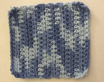 Wash cloth, dish cloth, dish rag, blue, denim