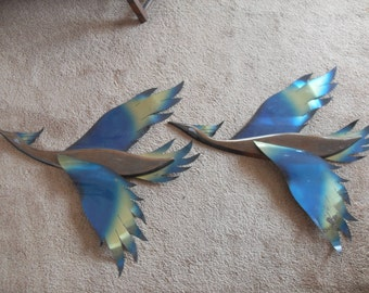 Vintage Mid Century Wall hanging Birds