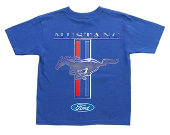 Kids ford mustang shirt for boys tee ford decal youth size
