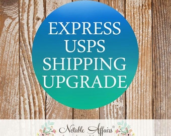 Upgrade to EXPRESS SHIPPING via USPS Express Mail