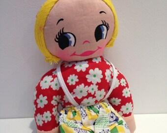 Vintage Big Eyes Kawaii Kitsch Doll vintage fabric