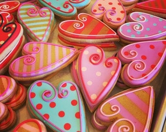 Valentine's Day Decorated Sugar Cookies-1 dozen