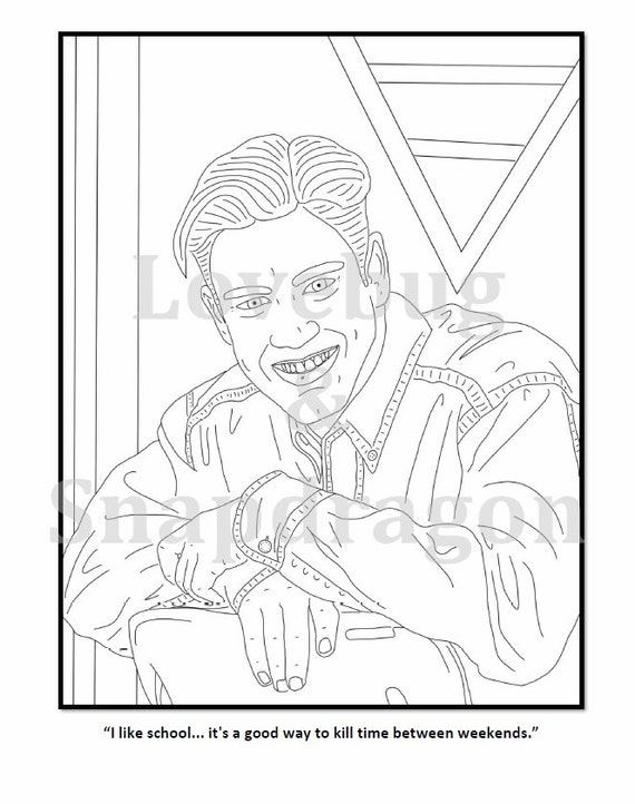 Saved by the Bell Coloring Book Instant Print Digital File