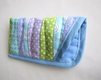 Whimsical Eye Glasses Case, Soft Quilted Glasses Case, Colorful Eye Glasses Case