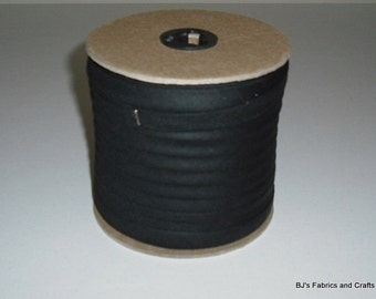"Double Fold Bias Tape 1/2"" BLACK 25 Yards Wholesale"