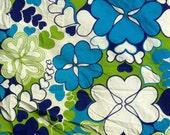Danish Mod Vintage Blue Green Floral Slipcover Marimekko