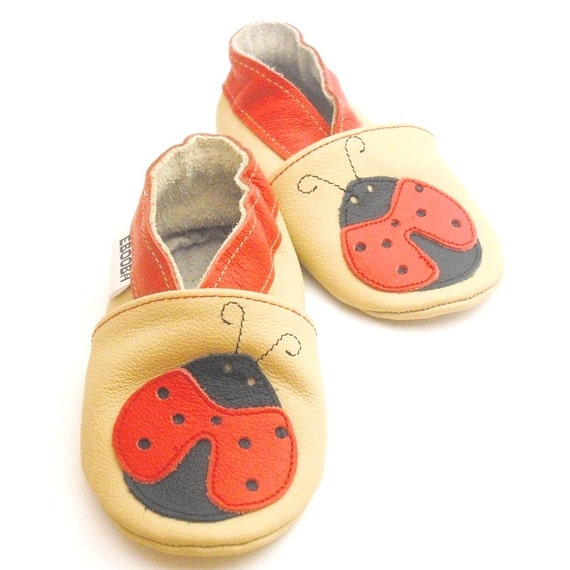 soft sole baby shoes infant kids gift ladybird beige 18 24 m ebooba 9-4