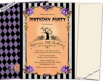 Nightmare before Christmas invitation - Halloween baby shower invitations - Printable halloween invites or printed.