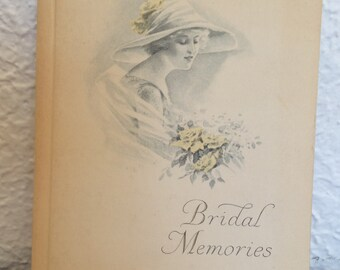 Vintage 1919 Bridal Memories Book