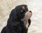 Cavalier King Charles Spaniel, Handmade Animal, Custom Dog Sculpture, Needle Felted King Charles Spaniel Puppy - made to order