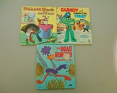 Vintage children's books, Walt Disney, Collectible books, The Road Runner, Donald Duck, Gumby, Chip and Dale, Tell A Tale Books