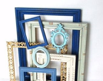 FRAME SALE Frame collection upcycled  repurposed open back frames beach decor  French country chic