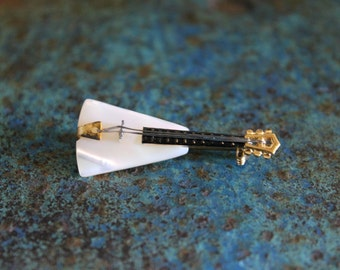 Vintage Mother of Pearl Guitar Pin