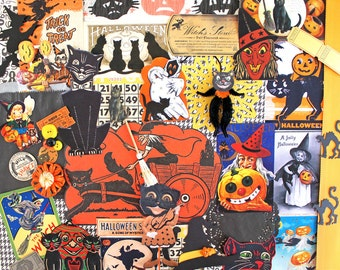 Halloween Inspiration Kit*Witch and Black Cat*Halloween Paper Pack