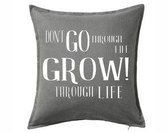 Inspirational Throw Pillow COVER