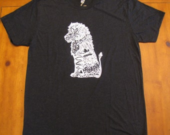 Men's T-Shirt, Guys Shirts, Animal Lover Tees, Lion T-Shirt, Unisex, Short Sleeve T-Shirt, Art Tees, Hipster T-Shirts, Men's Clothing