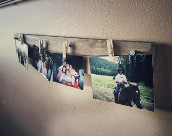Photo Display, Wood Pallet Decor, Wood Decor, Repurposed Wood, Picture Frame, Clothespins