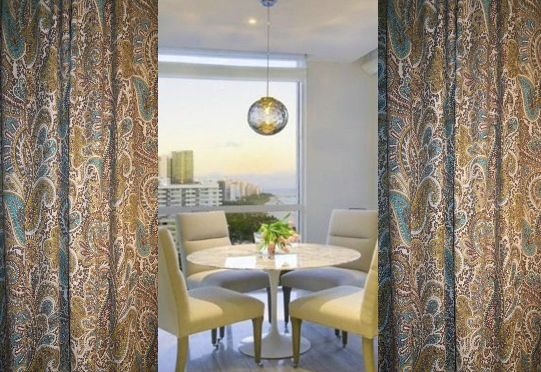Store Wide Sale Paisley Curtains Drapes Custom Made Drapes