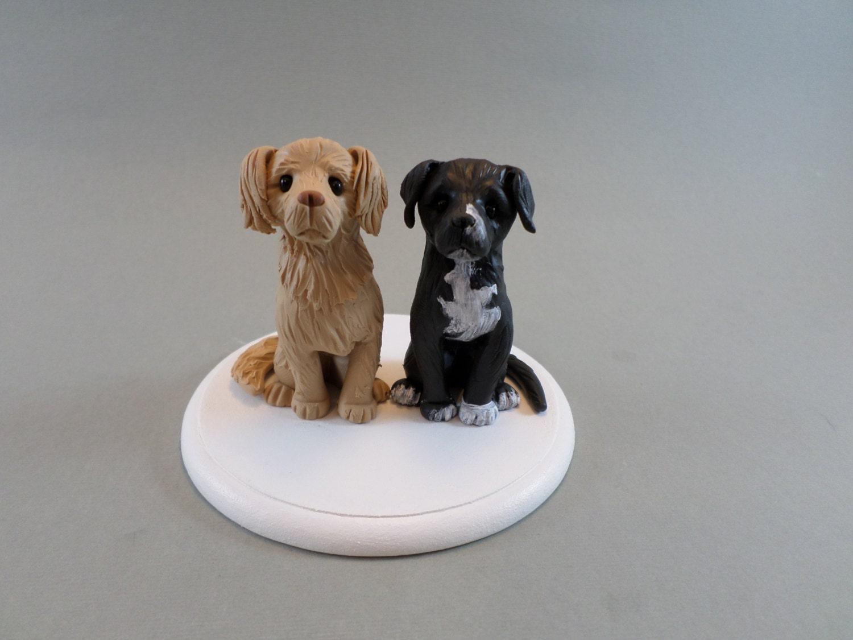 Custom Handmade Dog Wedding Cake Topper reserved for