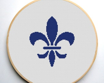 Cross stitch pattern PDF Fleur-de-lis  Instant Download