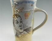 Ceramic Clay Pottery Beer Mug Pilsner Glass Vintage Nostalgia Mystical Magic Kim Losse