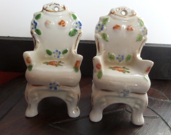 China Chairs - Vintage - Occupied Japan - Pair