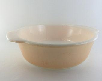 Fire king peach lusterware casserole dish