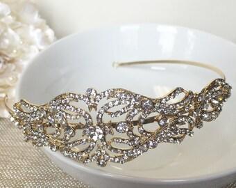 Vintage Swirling Gold Side Headband